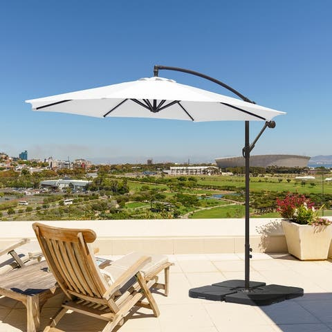 Weller 10 Ft. Offset Cantilever Hanging Patio Umbrella