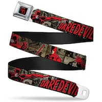 Marvel Universe Daredevil Dd Logo Full Color Black Red Daredevil Action Seatbelt Belt