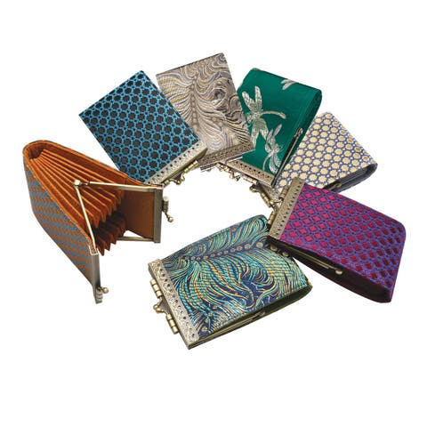 Cathayana Inc Women's French Ten Slot Accordion Style Credit Card Wallet