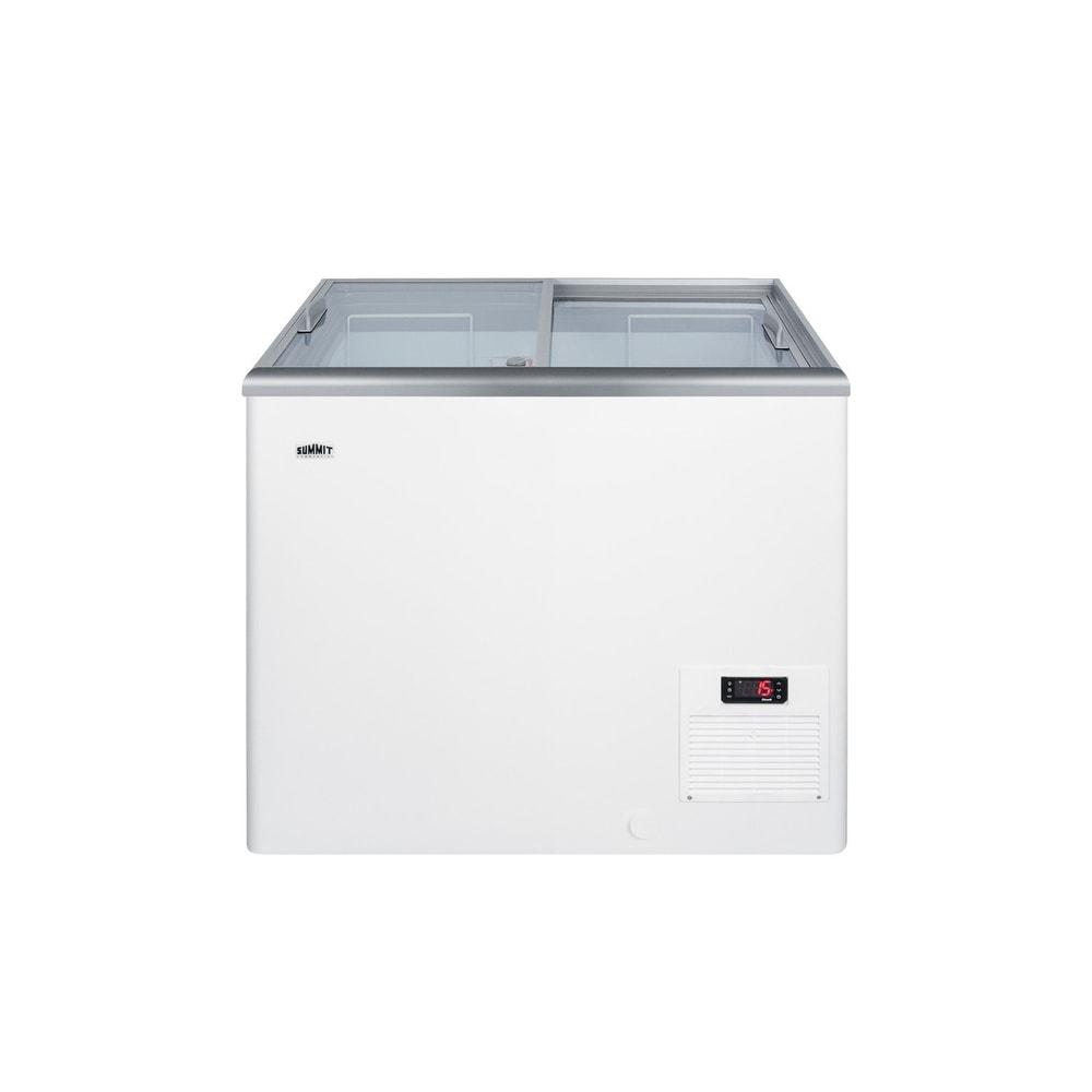 "Summit  NOVA22  Commercial 30"" Wide 7.2 Cu. Ft. Capacity Food & Beverage Freezer Merchandiser - White (White)"