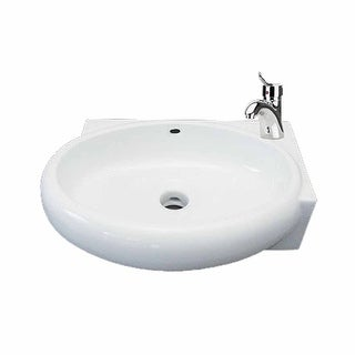 Corner Wall Mount Bathroom Sink Above Counter Vessel White | Renovator's Supply