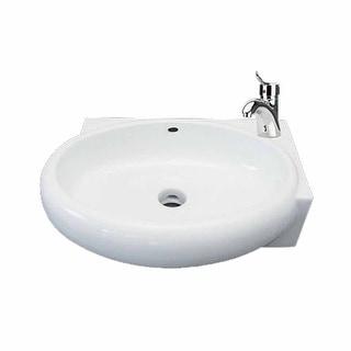 Corner Wall Mount Bathroom Sink Above Counter Vessel White