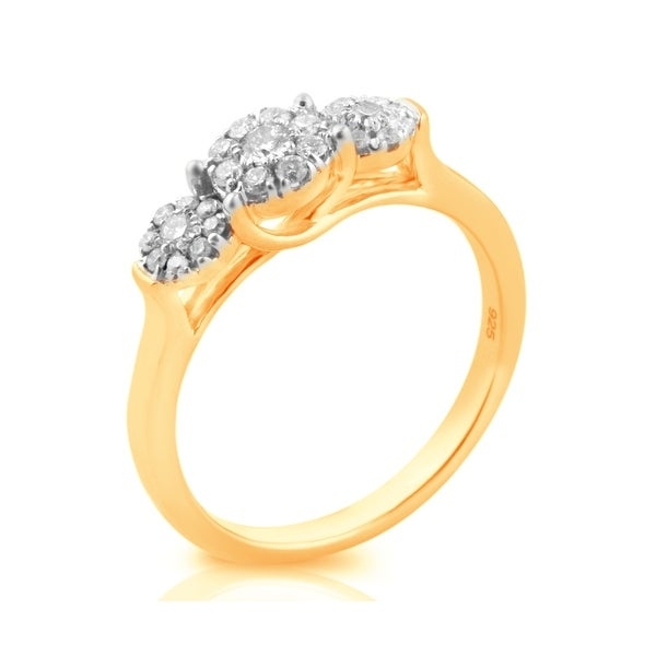 Lovely 0.35Ct Round Brilliant Cut Natural Diamond Fancy Designer Ring