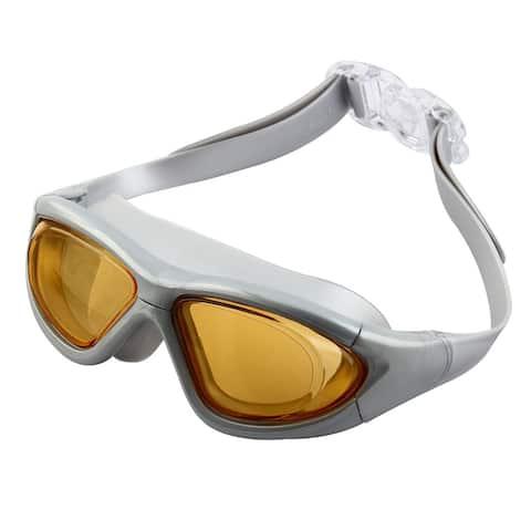 Clear Wide Vision Anti Fog Adjustable Belt Swim Glasses Swimming Goggles w Storage Case for Adult Men Women