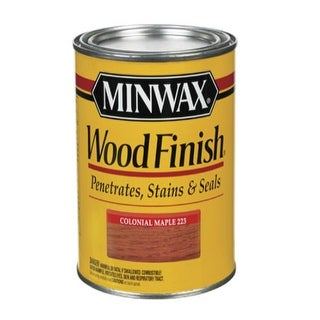 Minwax 70005 Colonial Maple Interior Wood Stain Finish, 1 Quart