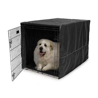 """Midwest Quiet Time Pet Crate Cover Black 48.5"""" x 31"""" x 31"""""""
