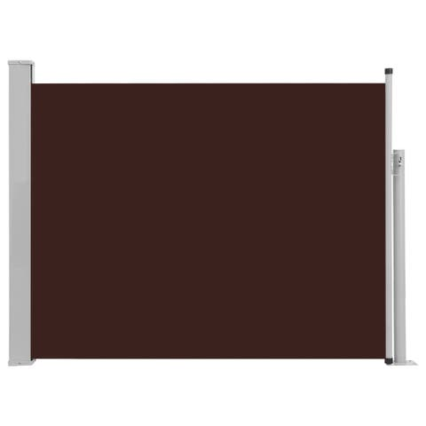 "vidaXL Patio Retractable Side Awning 55.1""x196.9"" Brown"