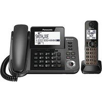 Panasonic KX-TGF380M DECT 6.0 1-handset Bluetooth Landline Telephone with Corded Base Unit  (Refurbished)