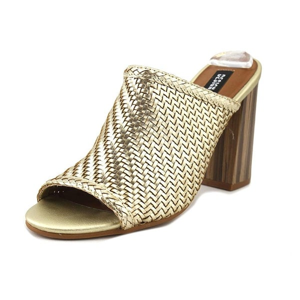 Design Lab Lord & Taylor Nikky Women Open Toe Synthetic Gold Sandals