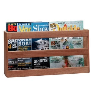 Whitecap Teak Double-Wide Magazine Rack - 62508