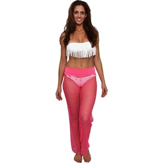 Women's Cover Up Waist Band Crochet Pants Beach Swimwear Swimsuit (More options available)