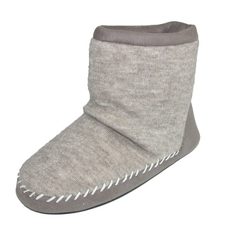 Totes Women's Microsuede & Heather Knit Marisol Boot Slipper