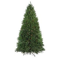 9' Pre-Lit Northern Pine Full Artificial Christmas Tree - Multi Lights - green