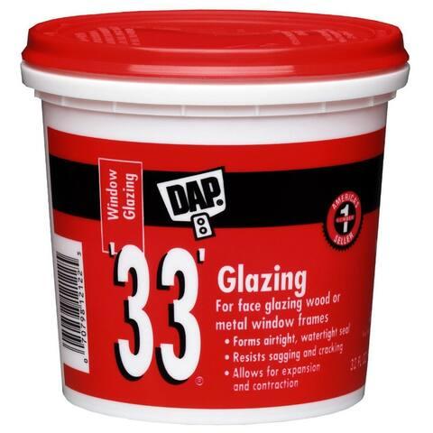 Dap 12122 Glazing Compound, 1 Qt, White, 33