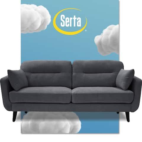 """Serta Sierra Collection 61"""" Mid-Century Loveseat"""