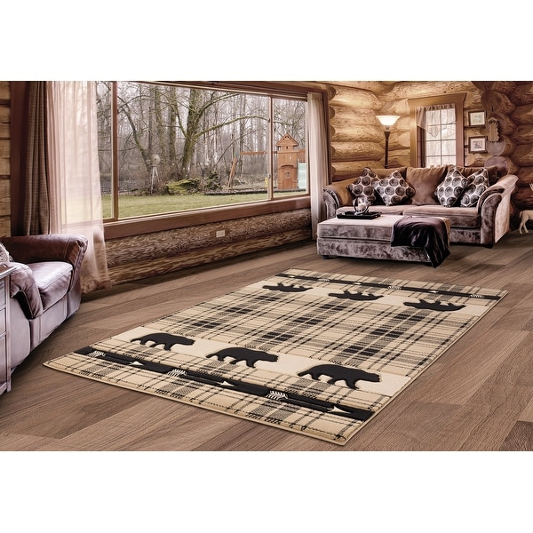 Westfield Home Graham Bear Mountain Hand-Carved Area Rug. Opens flyout.
