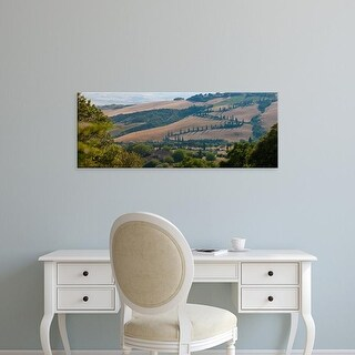 Easy Art Prints Panoramic Images's 'High angle view of winding road in valley, Tuscany, Italy' Premium Canvas Art