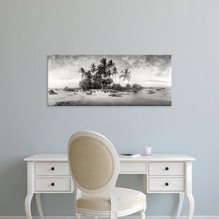Easy Art Prints Panoramic Image 'Palm trees on beach, Morro De Sao Paulo, Tinhare, Cairu, Bahia, Brazil' Canvas Art