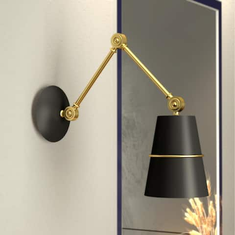 Glow's Avenue 1-Light Dimmable Swing Arm Wall Sconce - N/A