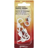 Hillman Fastener Corp 4Pk Sm White Safety Hook 122238 Unit: CARD Contains 10 per case
