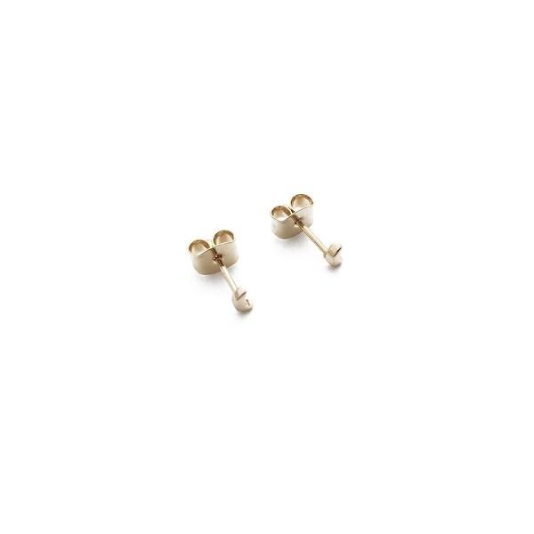 Honeycat Mini Moon Stud Earrings (Delicate Jewelry)