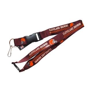 Cleveland Browns Clip Lanyard Keychain Id Holder Brown