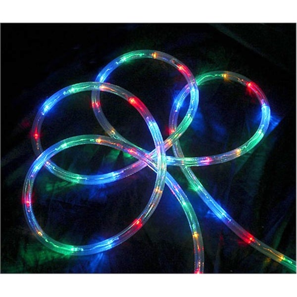 "18' Multi-Color LED Indoor/Outdoor Christmas Rope Lights - 2"" Bulb Spacing"