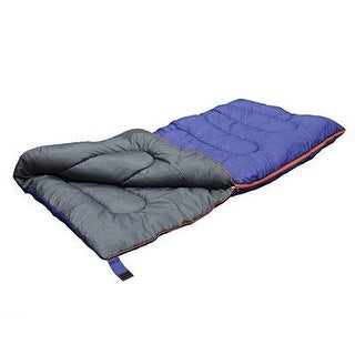 "Stansport Explorer 4 Lb. Sleeping Bag, 75"" X 33"" Wide - Cobalt Blue"