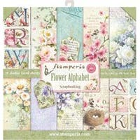 "Flower Alphabet; 10 Designs - Stamperia Double-Sided Paper Pad 12""X12"" 10/Pkg"