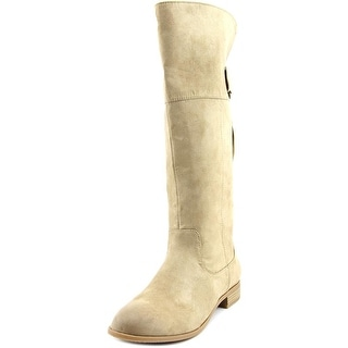 BC Footwear Collective Women  Round Toe Canvas Tan Knee High Boot