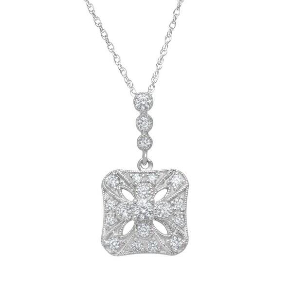 1/2 ct Diamond Pendant in 14K White Gold