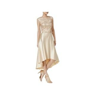 Betsy & Adam Womens Formal Dress Hi-Low Lace - 10