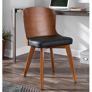 Link to Carson Carrington Valsbo Walnut/Faux Leather Chair Similar Items in Accent Chairs