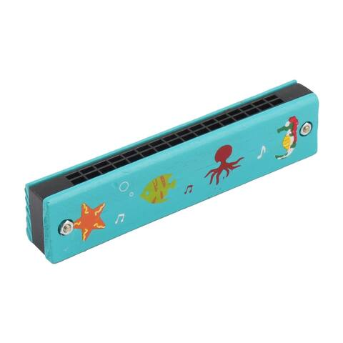 Outside Classroom Learning Marine Life Prints 32 Holes Dual Rows Harmonica