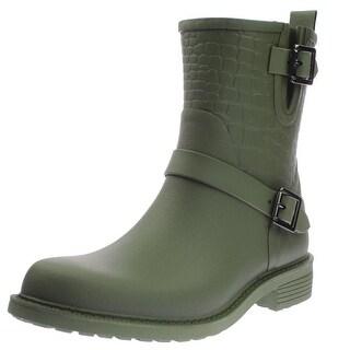 Sam Edelman Womens Keigan Rain Boots Buckle Ankle - 8 medium (b,m)