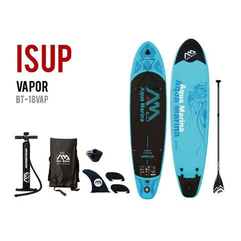 "Aqua Marina Vapor 10' 10"" SUP Inflatable Stand Up Paddle Board w/ 3PC Paddle"