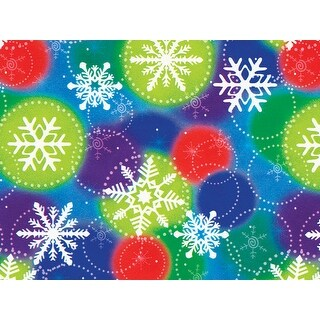 """Pack of 1, Colorful Snowflakes 18"""" x 833' Full Ream Roll Gift Wrap for Party, Kids' Birthday, Wedding & Occasion"""