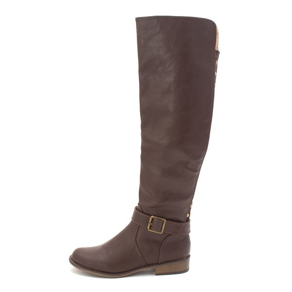 Just Fab Womens eliza Closed Toe Mid-Calf Riding Boots - 6