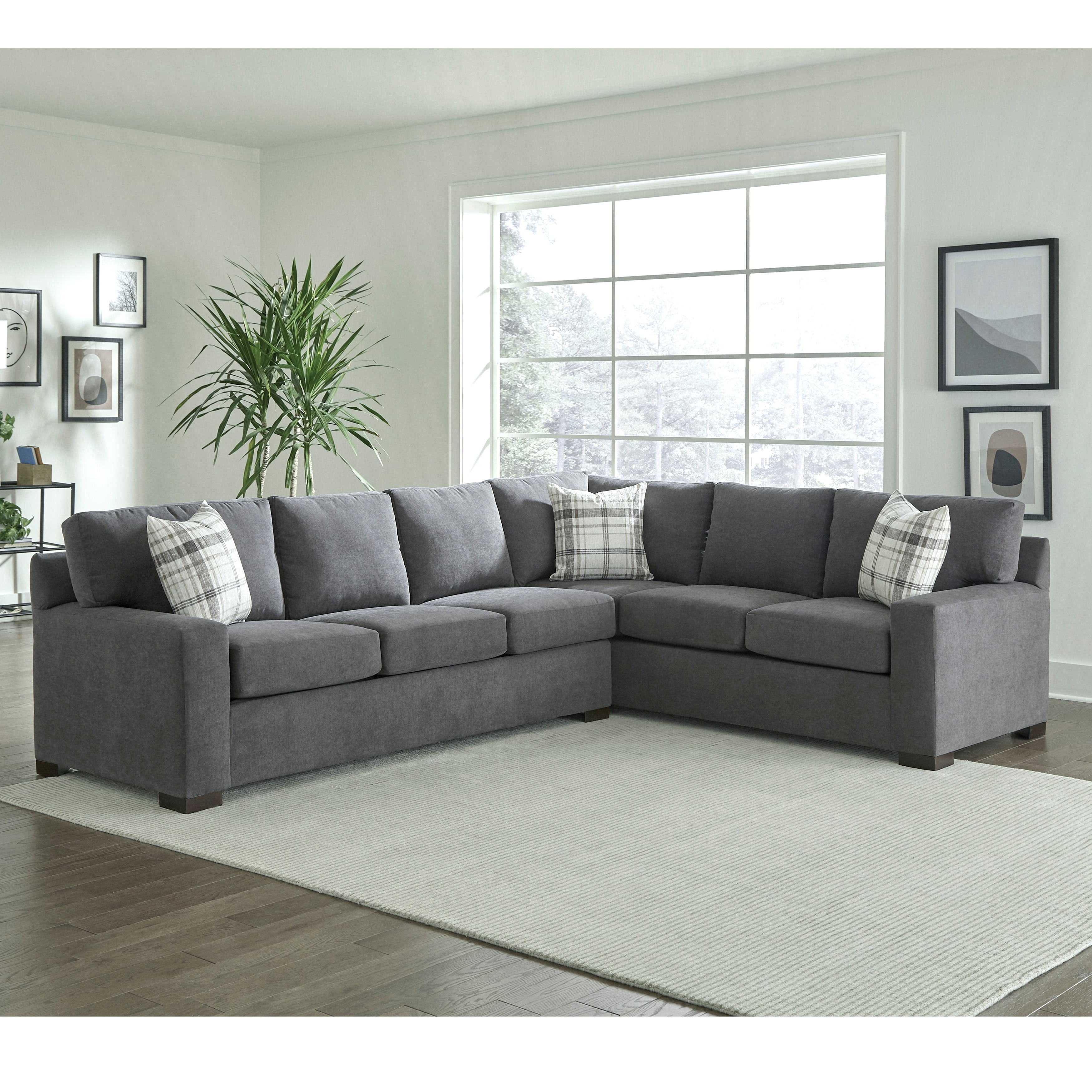 Picture of: Gerard Grey Sectional Sofa Bed With Queen Gel Memory Foam Mattress Overstock 31286320