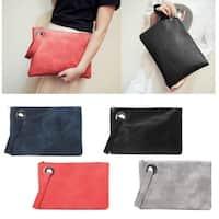 Women Leather Wallet Clutch Card Phone Holder Straps Purse Envelope Long Handbag