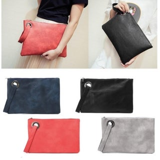 Women Leather Wallet Clutch Card Phone Holder Straps Purse Envelope Long Handbag
