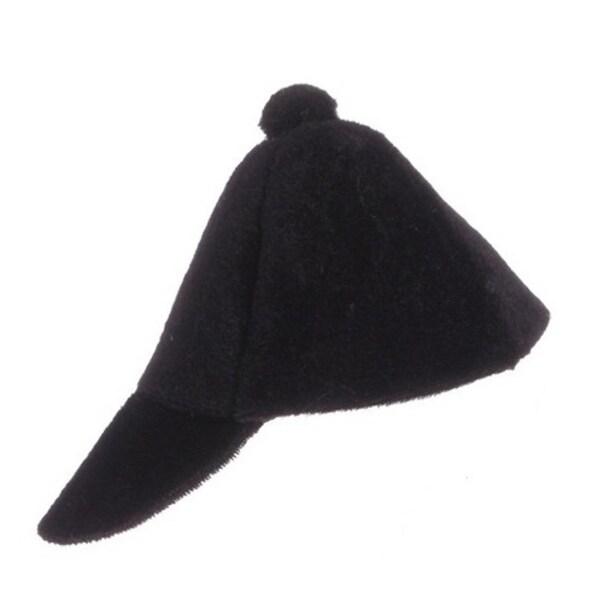 "6.25"" Alpine Chic Decorative Black Jockey Hat Christmas Ornament"
