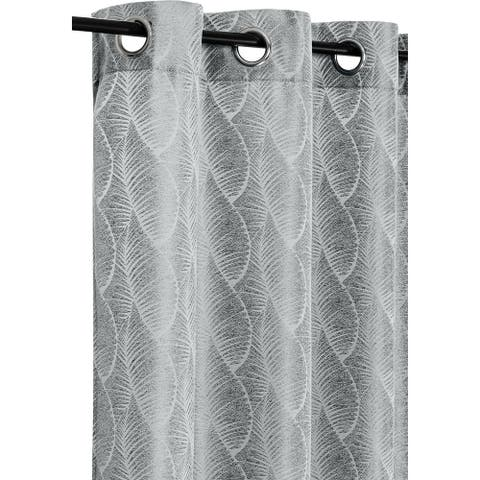 "Curtain Jacquard Amberly Lunar Rock Grey - 84"" x 54"""