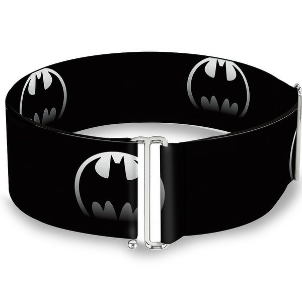 Bat Signal 4 Black Silver Fade One Size Cinch Waist Belt ONE SIZE