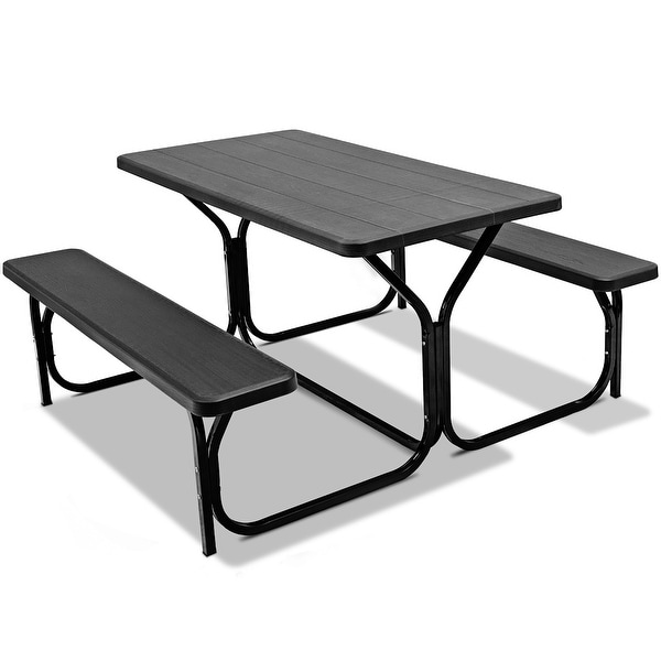 Picnic Table Bench Set Outdoor Camping All Weather. Opens flyout.