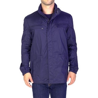 Prada Men's Nylon Windbreaker Jacket Navy Blue