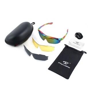 ROBESBON Authorized Polarized Eyewear Frame Lens Cycling Glasses Multicolor Set