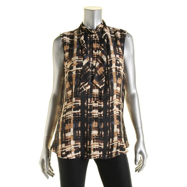 598989aa8b69 Shop Anne Klein Womens Blouse Sateen Tie-Neck - Free Shipping On Orders  Over  45 - Overstock - 13283214