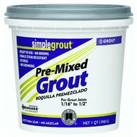 Custom PMG381QT SimpleGrout Pre-Mixed Grout, Bright White, 1 Qt