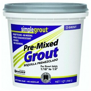 Custom PMG381QT SimpleGrout Pre­-Mixed Grout, Bright White, 1 Qt